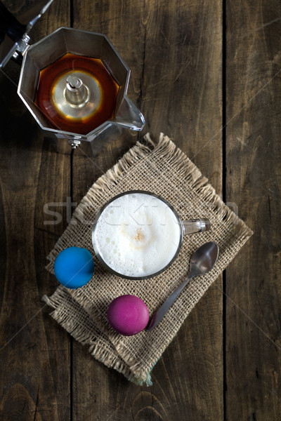 Cup of cappuccino and macaroons Stock photo © nessokv