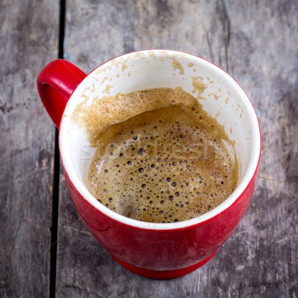 Xícara de café café mesa de café tabela vermelho Foto stock © nessokv