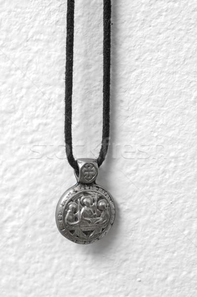 Religiosas símbolo colgante blanco pared Foto stock © nessokv