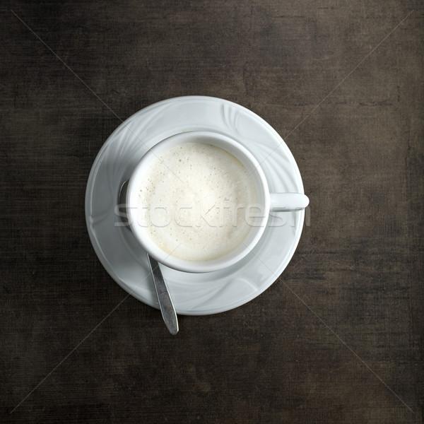 Cappuccino tasse rustique bois Photo stock © nessokv