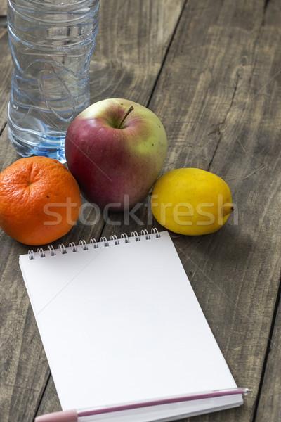 Water vruchten kalender geslaagd appel Stockfoto © nessokv