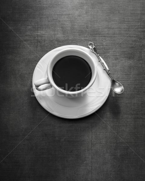 Tazza di caffè piattino tavola bianco nero Cup Foto d'archivio © nessokv