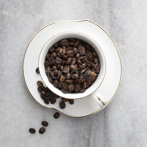 Кубок полный кофе мрамор кафе сельского хозяйства Сток-фото © nessokv