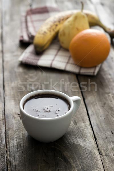 чашку кофе деревянный стол пространстве таблице расслабиться Сток-фото © nessokv