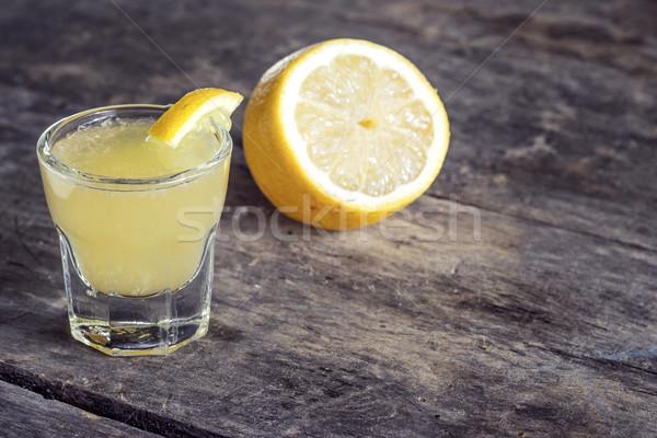 Limoncello Lemon Liqueur Stock photo © nessokv