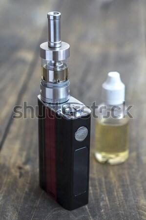 Különböző üvegek közelkép cigaretta folyadék elektronikus Stock fotó © nessokv