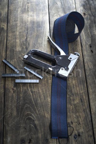 大工仕事 ホッチキス 建設 機械 木製 木材 ストックフォト © nessokv