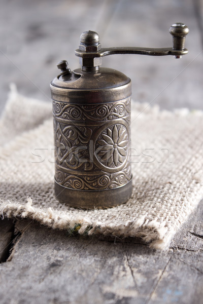 Old Pepper grinder mill Stock photo © nessokv
