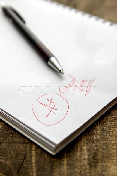 Grade A Plus on Notebook Stock photo © nessokv