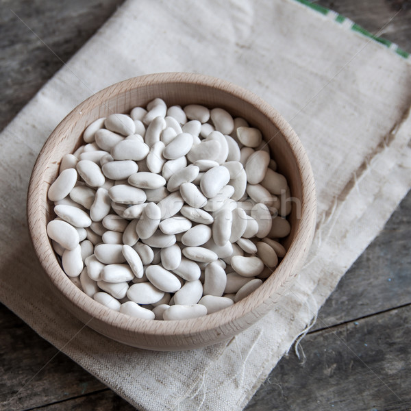 white beans on a wooden table Stock photo © nessokv
