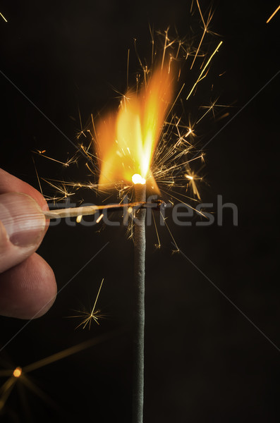 Christmas and newyear party sparkler Stock photo © nessokv