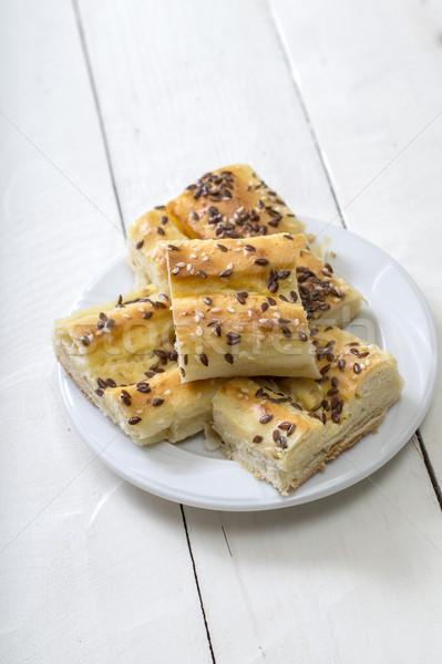 Caseiro mini queijo torta café da manhã Foto stock © nessokv