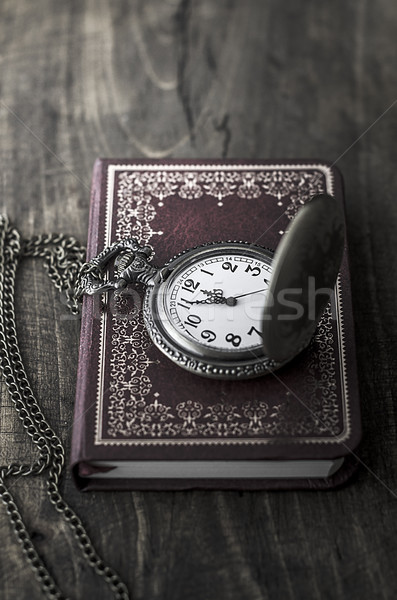 pocket watch with red notebook Stock photo © nessokv