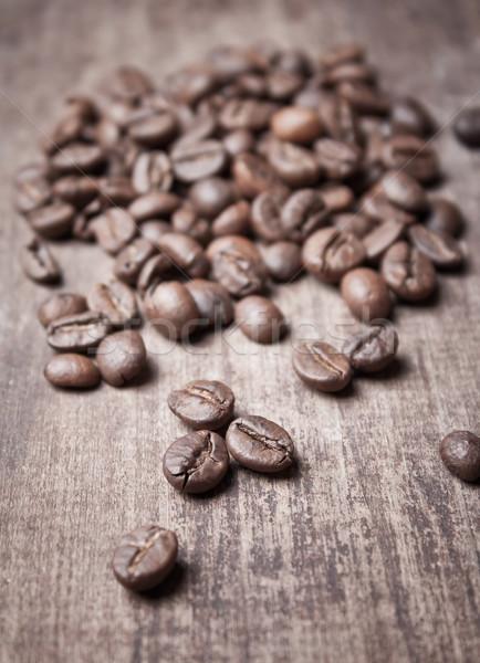 Grão de café velho madeira Foto stock © nessokv