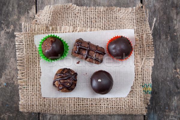 Homemade chocolate brownies Stock photo © nessokv