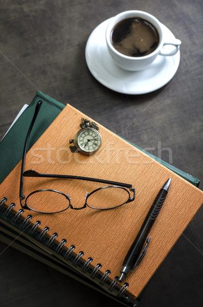 Libri coppia occhiali top Foto d'archivio © nessokv