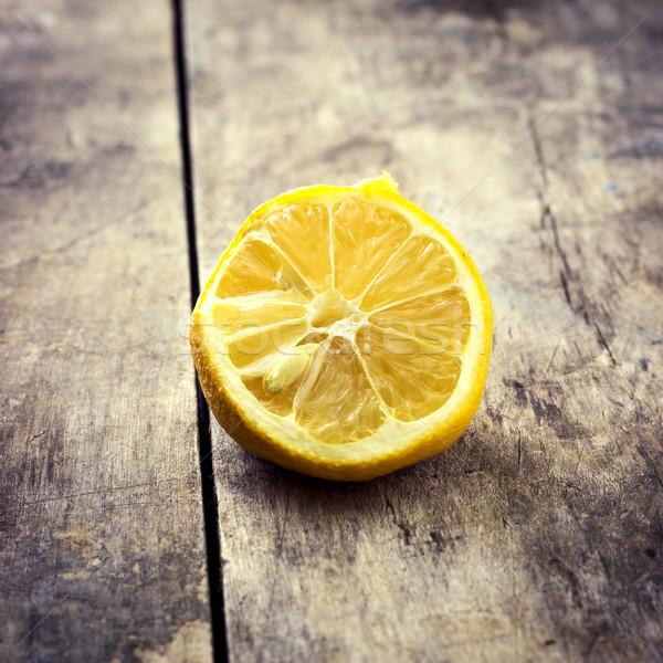 Withered Half Lemon Stock photo © nessokv
