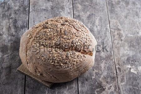 Teljes kiőrlésű kenyér cipó gabona gazdák kenyér asztal Stock fotó © nessokv