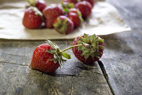 fresh  strawberries Stock photo © nessokv