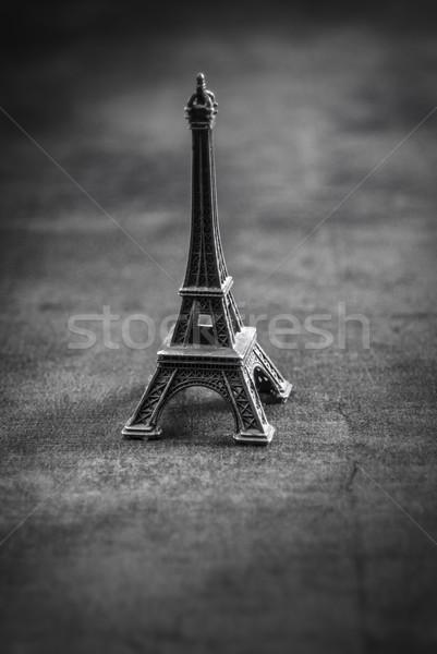 お土産 フランス 小 エッフェル塔 表 黒白 ストックフォト © nessokv