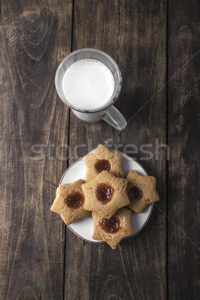 新鮮な クッキー フルーツ 素朴な 木製 ストックフォト © nessokv