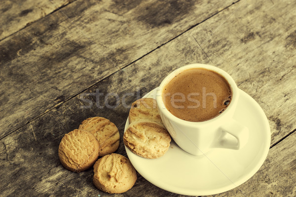 coffee and cookies on table Stock photo © nessokv
