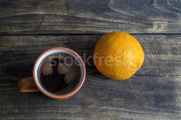 Arancione caffè Cup alimentare bere nero Foto d'archivio © nessokv