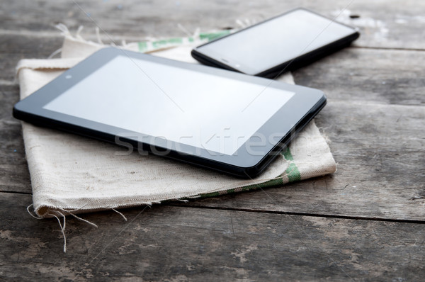 tablet computer and smart phone Stock photo © nessokv