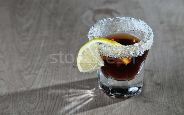 dark colored shot of alcohol  Stock photo © nessokv