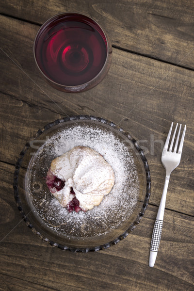 Delicious homemade  strudel with red wine Stock photo © nessokv