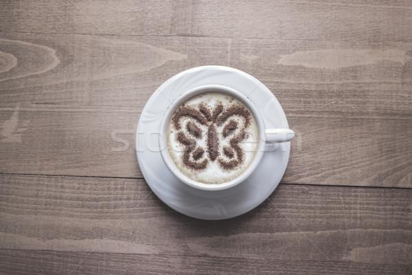 Кубок свежие эспрессо таблице бизнеса Сток-фото © nessokv