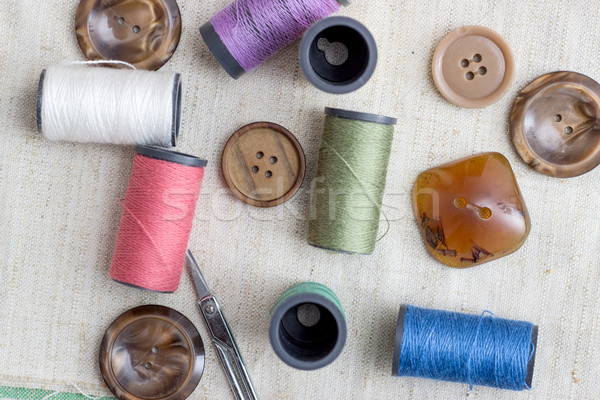 Background with sewing/Sewing kit Stock photo © nessokv