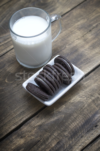Chocolate oreo cookies on the table Stock photo © nessokv