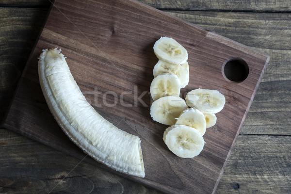 sliced banana on a cutting board Stock photo © nessokv
