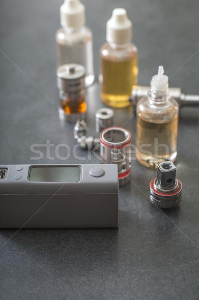 Különböző üvegek közelkép cigaretta ötlet választás Stock fotó © nessokv