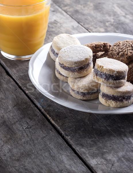 Cookies пластина сока старые шоколадом Сток-фото © nessokv