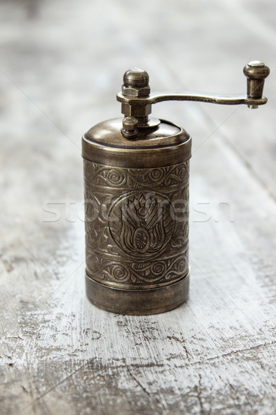 Old Pepper grinder mill Stock photo © nessokv