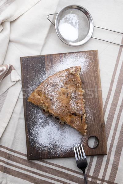 Kayısı pasta dilim üzerinde gıda Stok fotoğraf © nessokv