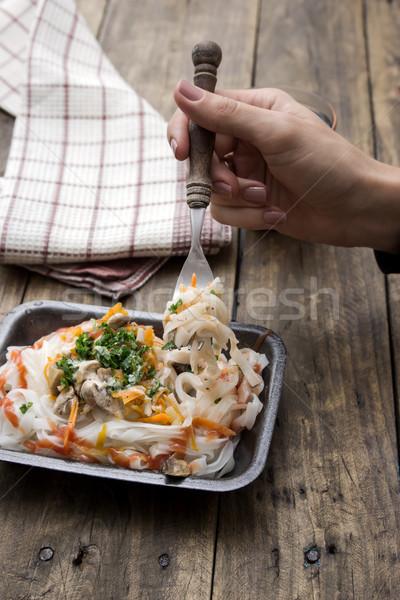 Chinese groenten rijst tabel Stockfoto © nessokv