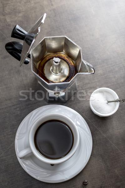 Кубок кофе кофеварка кухне пластина Сток-фото © nessokv