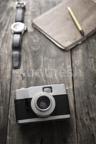 Retro fotocamera tavola Foto d'archivio © nessokv