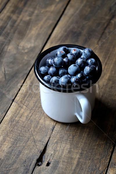 黒 ブドウ クローズアップ 白 フルーツ 暗い ストックフォト © nessokv