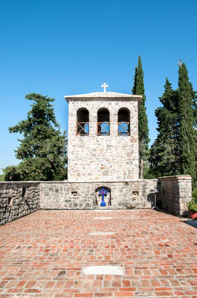 Bel toren kerk bidden god vrede Stockfoto © nessokv