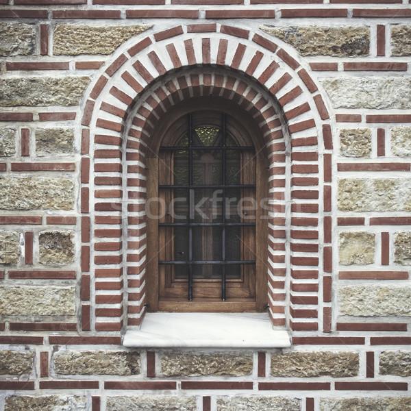 Antica finestra costruzione Foto d'archivio © nessokv