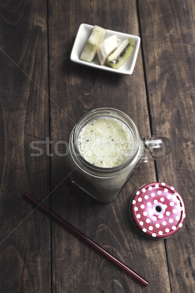Fruto tabela comida maçã beber Foto stock © nessokv