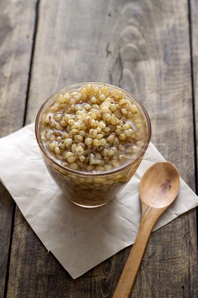 пшеницы подготовленный цельной пшеницы стекла чаши Сток-фото © nessokv