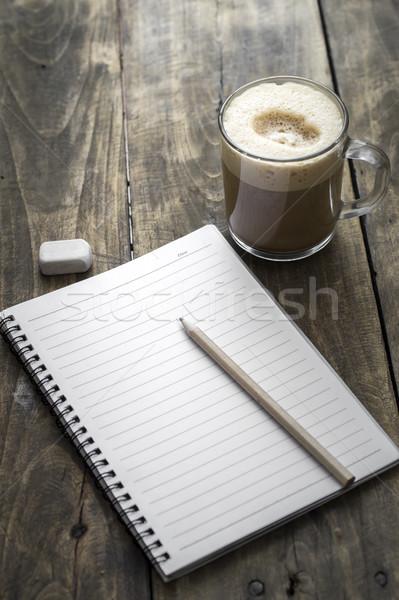 Portable café ouvrir crayon tasse papier Photo stock © nessokv