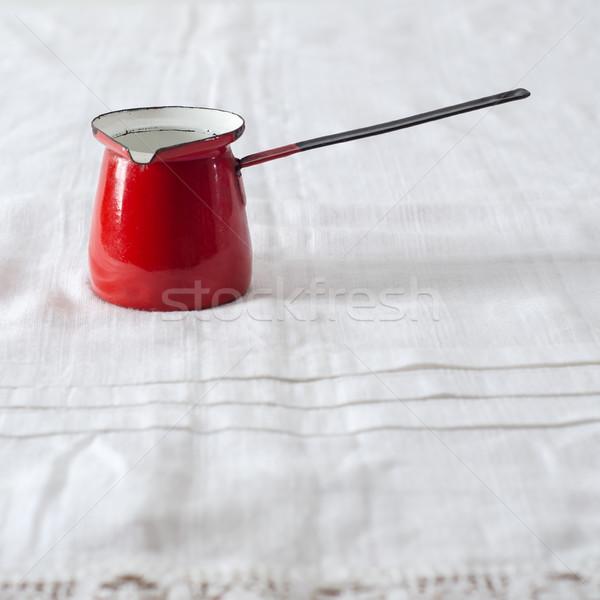 старые кофеварка пусто красный дома Сток-фото © nessokv