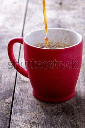 Pouring a Fresh Cup of Brewed Coffee Stock photo © nessokv