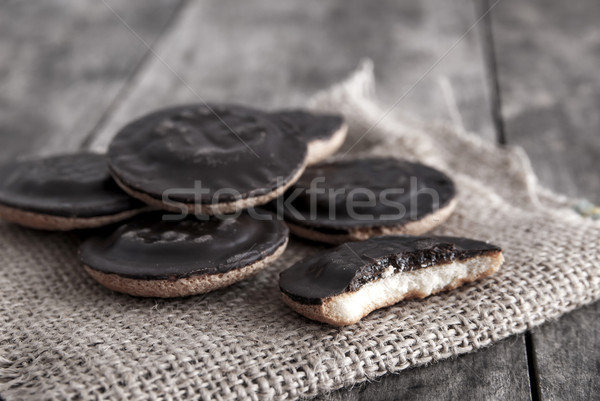 Kekler fotoğraf eski ahşap gıda Stok fotoğraf © nessokv